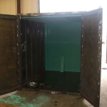 custom fabricatied steel container
