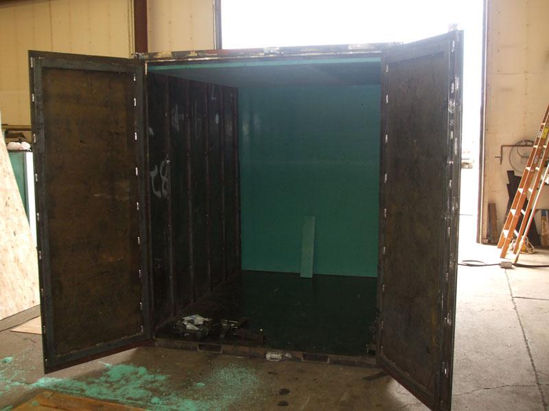 custom fabricatied steel container
